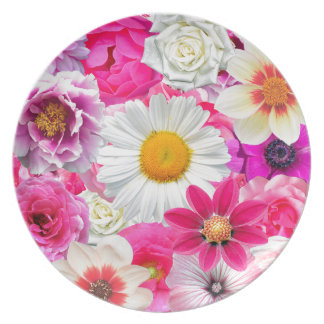 Pink flowers_ Sanchez Glory Plate
