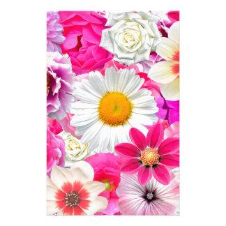 Pink flowers_ Sanchez Glory Stationery