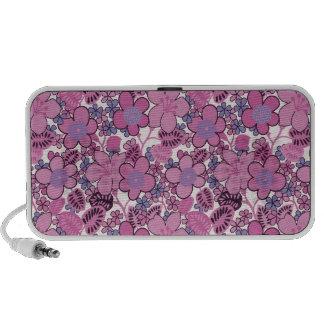 Pink Flowers Laptop Speakers