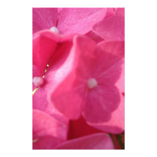 pink flowers stationery paper
