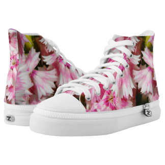 Pink Flowers Sweet William Printed Shoes