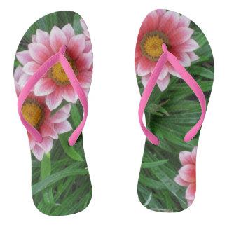 Pink Flowers Thongs
