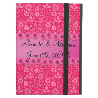 Pink flowers wedding favors iPad air case