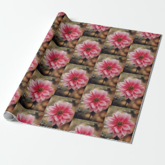 Pink flowers wrapping paper