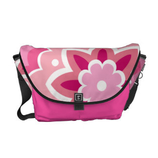 Pink & Flowery Courier Bag