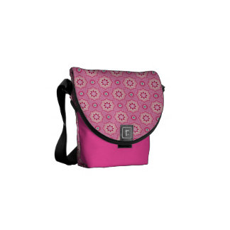 Pink & Flowery Courier Bags