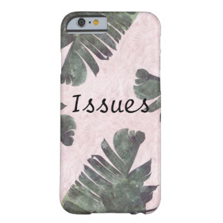 Pink fluff with green leaves iPhone 6/6s case