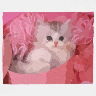 pink fluffy kitten blanket