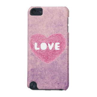 Pink fluffy Love Heart iPod Touch 5G Cover