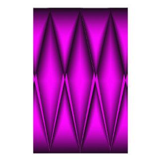 Pink Foiled Diamonds Custom Stationery
