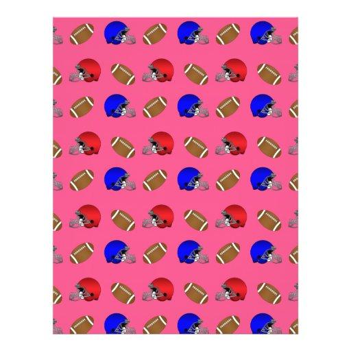 pink footballs helmets pattern flyer
