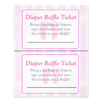 Pink Footprints Themed baby shower games Flyer