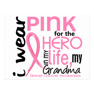 Pink For Hero In Life 2 Grandma Breast Cancer Post Cards
