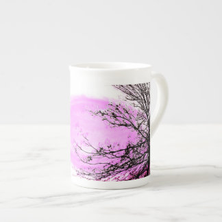 Pink Forest bone china mug by Jane Howarth