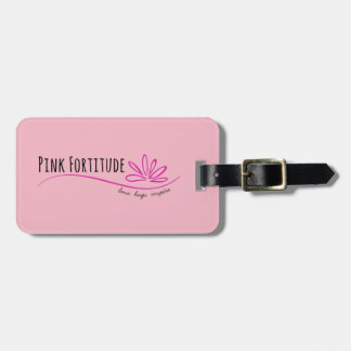 Pink Fortitude Luggage Tag
