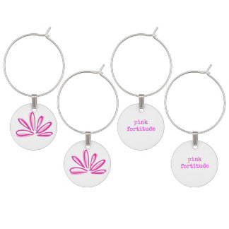Pink Fortitude Wine Charms