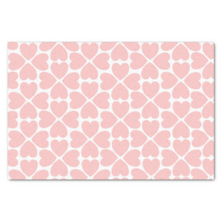 Pink Four Leaf Clover Hearts Tissue Paper