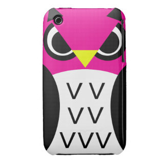 Pink Fowl Owl iPhone 3 Cases
