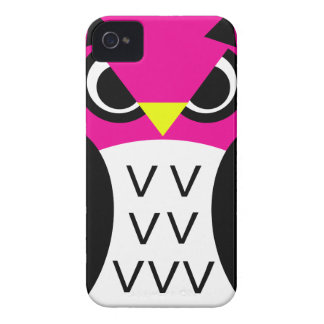 Pink Fowl Owl iPhone 4 Covers
