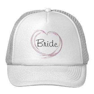 Pink Fractal Abstract Heart Bride Wedding Hat