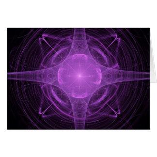 Pink Fractal Card