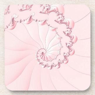 Pink Fractal Coaster