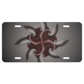 Pink Fractal Design License Plate