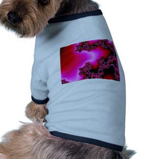 PINK FRACTAL RINGER DOG SHIRT
