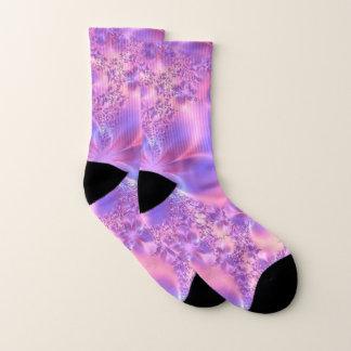 Pink Fractal Flower Socks