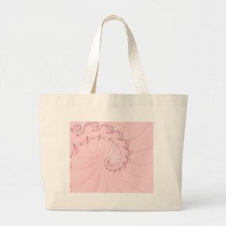 Pink Fractal Large Tote Bag
