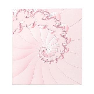 Pink Fractal Notepad