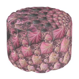 Pink Fractal Pouf