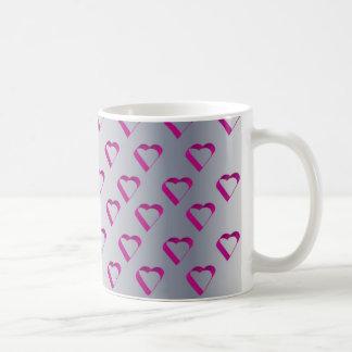 Pink Framed Hearts Basic White Mug