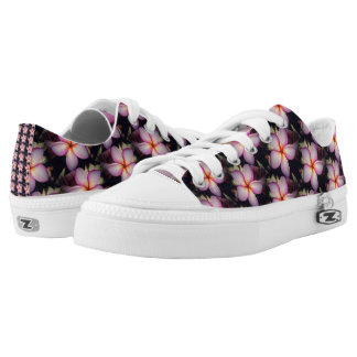 Pink Frangipane Flower Low Tops