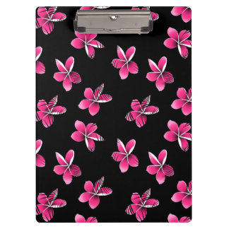Pink frangipani clipboard