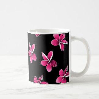 Pink frangipani coffee mug