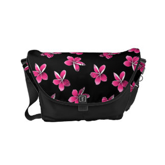 Pink frangipani courier bags