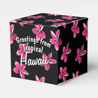 Pink frangipani favour box