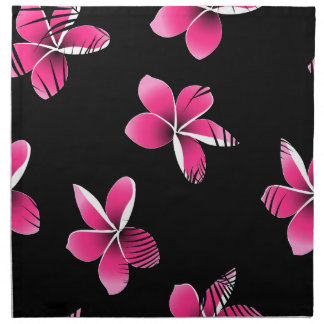 Pink frangipani napkin