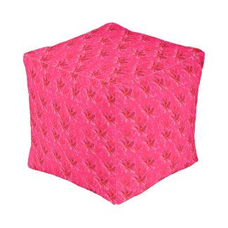 Pink Frangipani Passion, Full Print Pouffe. Pouf
