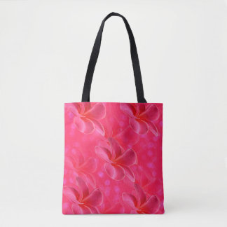 Pink Frangipani Passion, Full Print Shopping Bag