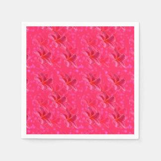 Pink Frangipani Passion Pattern, Paper Napkins