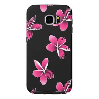Pink frangipani samsung galaxy s6 cases