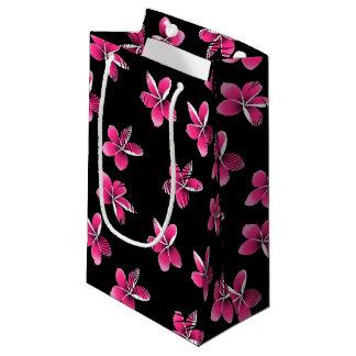 Pink frangipani small gift bag