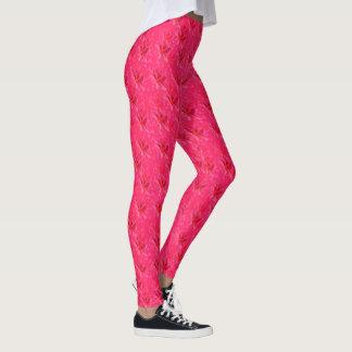 Pink Frangipanis On Pink Bokeh, Leggings