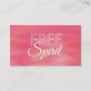 Inspirational quotes business cards zazzle au pink free spirit inspirational quote business card reheart Gallery