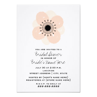 Pink French Anemone Bridal Shower Invitation