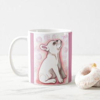 Pink French Bulldog mug
