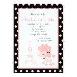 PINK FRENCH POODLE Ooh la la 5x7 Birthday Invitations