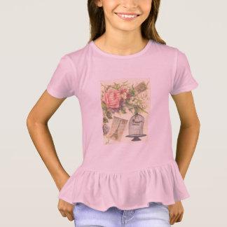 Pink French Theme Vintage Paris Girls T-Shirt